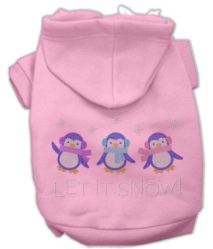 Mirage Pet Products Let it Snow Penguins Rhinestone Hoodie Pink L (14)