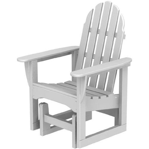 Poly-wood Recycled Plastic Wood Classic Adirondack Glider Chair