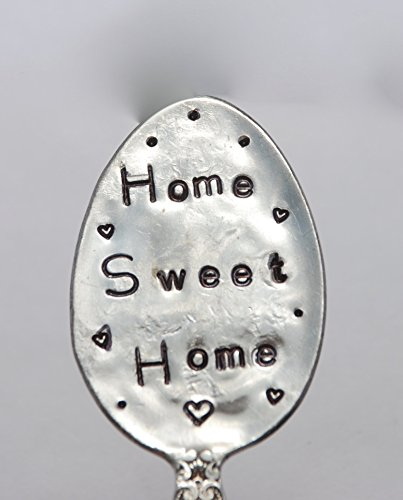 Garden Marker. HOME SWEET HOME. Plant Stake made from Vintage Silver Plate Spoon. Hand Crafted for your Plants Flower or Herbs