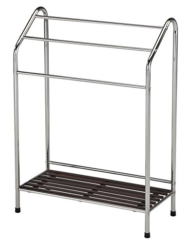 (Kings Brand Victory Chrome Free Standing Bathroom Towel Rack Stand With)