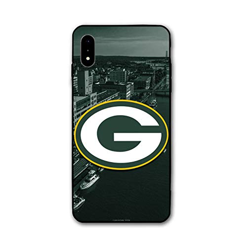 iPhone XR Case, Acrylic PC Back Cover TPU Silicone 2 in 1, Designed for Apple iPhone XR 6.1 Inch (Packers-GB)