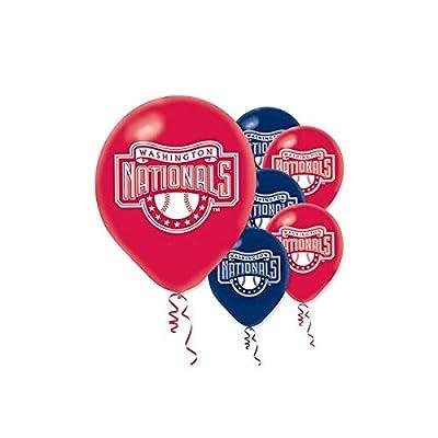Amscan Sports & Tailgating Mlb Washington Nationals Printed Latex Balloons Childrens Party