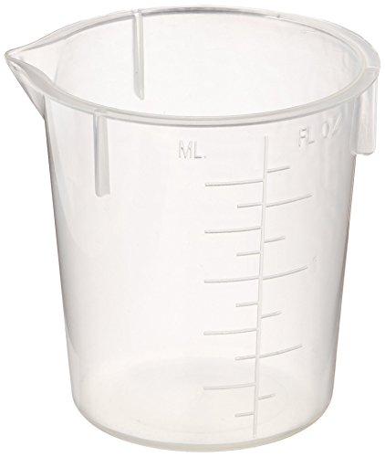 Maryland Plastics L-1220 Polypropylene Disposable Beaker, Graduated, 50 mL (Pack of 100)