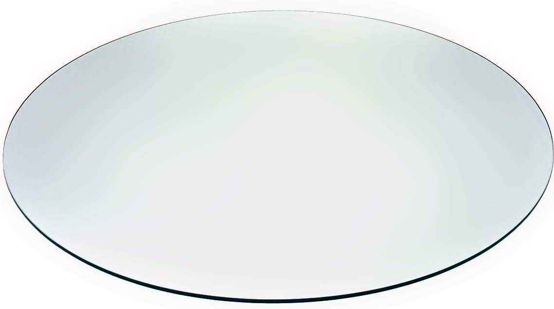 "Tempered Glass Table Top with Rounded Edge (36""): Home & Kitchen"
