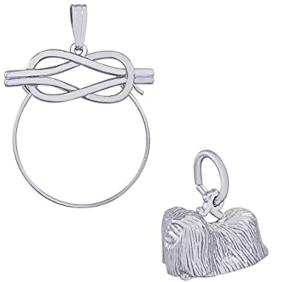 Rembrandt-Charms-Pekingese-Charm-on-an-Optional-Charm-Holder