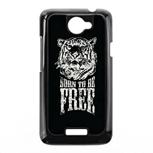 HTC One X Cell Phone Case Black quotes born to be free Vrsso