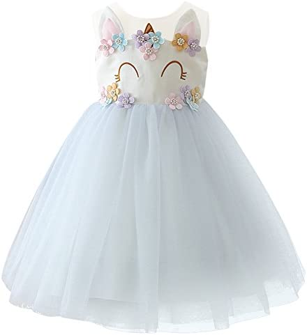 Heariao Descendants Costume Dress for Girls Birthday Party Baptism Mesh Princess Dress Up Tulle Tutu Dress Outfits