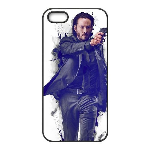 John Wick coque iPhone 5 5S cellulaire cas coque de téléphone cas téléphone cellulaire noir couvercle EOKXLLNCD24868