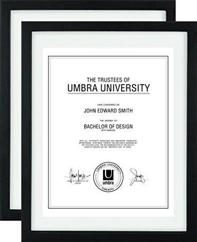 Umbra Document Frame 11x14 Inch Modern Picture Frame