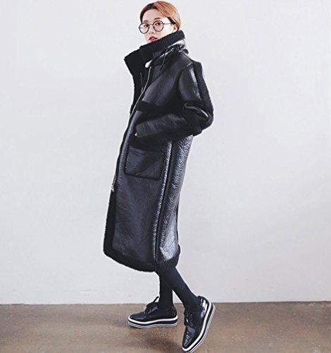 Inverno Cappotto Giacca Caldo Di Dimensioni Wanyang Donne In Grandi Nero xq0xfC