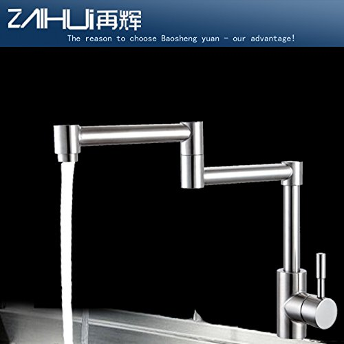 Lalaky Taps Faucet Kitchen Mixer Sink Waterfall Bathroom Mixer Basin Mixer Tap for Kitchen Bathroom and Washroom 304 Stainless Steel Hot and Cold Foldable
