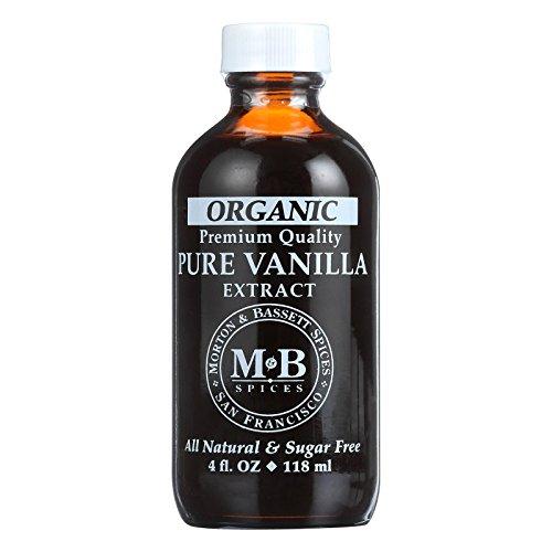 - Morton and Bassett Organic Pure Vanilla Extract, 4 Ounce - 3 per case.