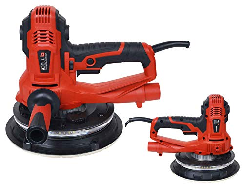 IBELL Dry Wall Sander DS80-90, 180MM, 800W, 1200-2300rpm with Vacuum and LED Light 2