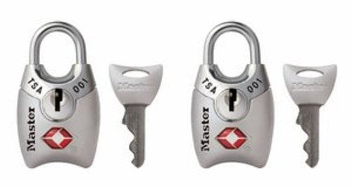 Master Lock Padlock, Keyed TSA-Accepted Luggage Lock, 1 in. Wide, Silver, 4689TSLV...