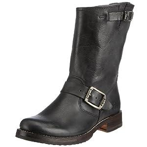 FRYE Women's Veronica Short Boot, Black Tumbled Full Grain, 8 M US