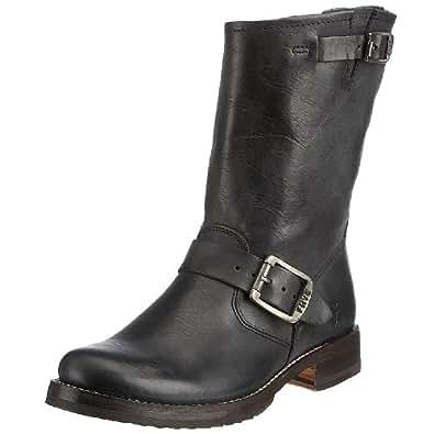 FRYE Women's Veronica Short Boot, Black Tumbled Full Grain, 5.5 M US
