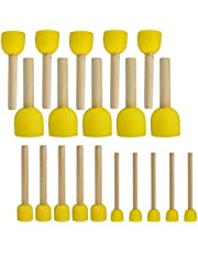 Sponge Painting Brush Set, obmwang Pack of 20 Round Sponges Brushes Painting Tools for Kids DIY Painting (4 Sizes)