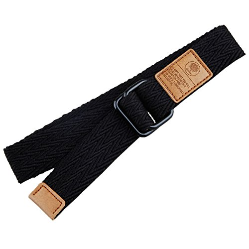 Samtree Canvas Web Belts for Women Men,Solid Color Double D-Ring Buckle(43