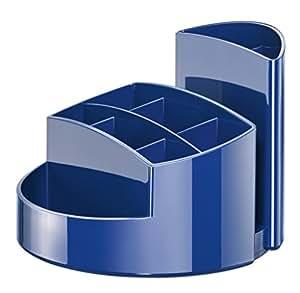 Han 17460-14 Rondo - Portalápices (9 compartimentos, con soporte para cartas), color azul