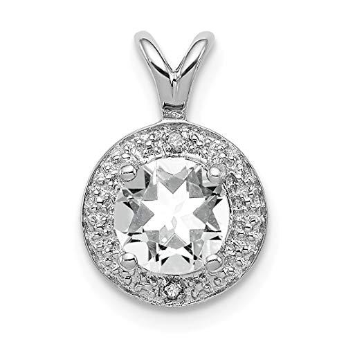 925 Sterling Silver Diamond White Topaz Pendant Charm Necklace Birthstone April Set Fine Jewelry For Women Gift Set