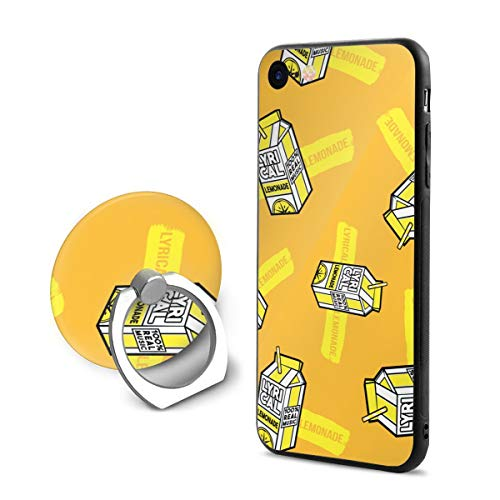 Lyrical Lemonade 100% Real Music iPhone 7/8 Phone Case with Finger Stand Shockproof Protective Bumper 360 Degree Rotation Ring Stand