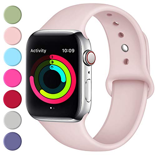 Fuleda Compatible with iWatch Band 40mm 38mm, Pink, S/M]()