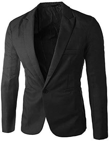 새 제품 남성용 블레이저 재킷 면 슬림핏 원버튼 수트 패션 솔리드 파티 아웃웨어 / 새 제품 남성용 블레이저 재킷 면 슬림핏 원버튼 수트 패션 솔리드 파티 아웃웨어