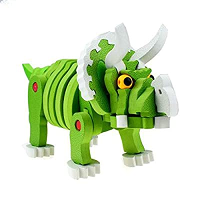 N/X The Latest Animal EVA Puzzle Building Blocks Educational Gift for Kid: Toys & Games