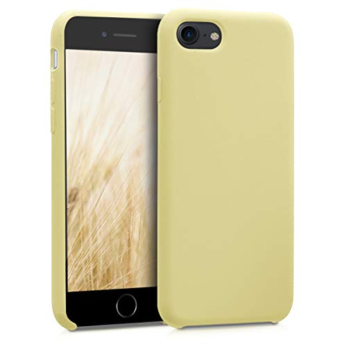 - kwmobile TPU Silicone Case for Apple iPhone 7/8 - Soft Flexible Rubber Protective Cover - French Vanilla