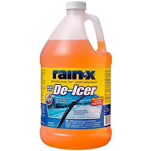 Rain-X Original 2-in-1 Windshield Washer Fluid, Removes Light Snow, Ice, Grime, Improves Driving Visibility - 25° F ()