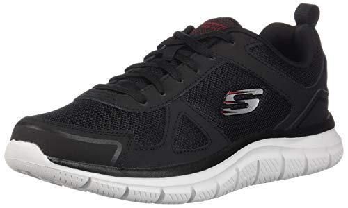 Sportschuhe Herren Skechers Grau Red Track SCLORIC Black K7w1KxfqR8