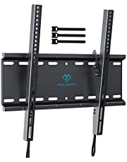 Tilting TV Wall Mount Bracket Low Profile for Most 23-55 Inch LED, LCD, OLED, Plasma Flat Screen TVs with VESA 400x400mm Weight up to 115lbs by PERLESMITH
