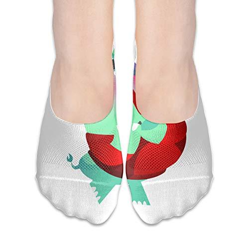 No Show Socks Rhinoceros Cartoon Blushing Designer Womens Low Cut Sock Athletic Invisible Socks for Girl