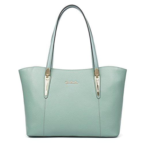 [BOSTANTEN Leather Handbags Designer Tote Purse Shoulder Bags for Women Light Green] (Sale On Purses)