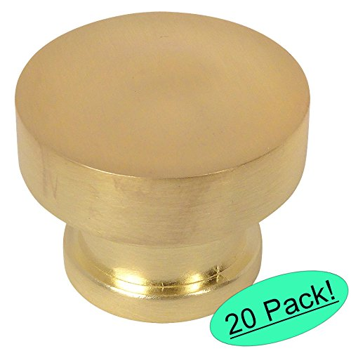 Cosmas 704BB Brushed Brass Round Contemporary Cabinet Hardware Knob - 1-1/4