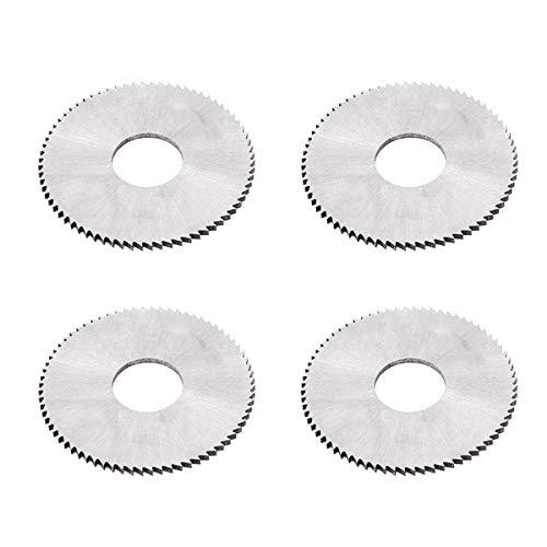(COMOK 4Pcs 40mm Dia 1mm Thickness 72 Teeth Circular High Speed Steel Plain Slitting Saw Cutter Cutting Tool(Size:40mm x 1mm x 13mm))