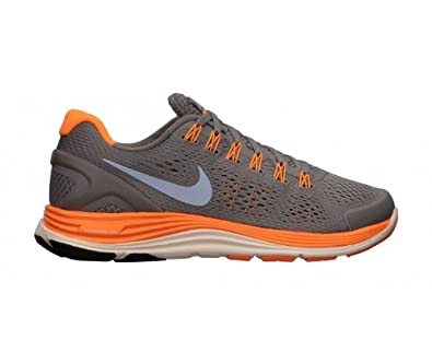 brand new c37e4 52c27 NIKE LunarGlide+ 4 Ladies Running Shoes, Grey Orange, UK6.5  Amazon.co.uk   Sports   Outdoors
