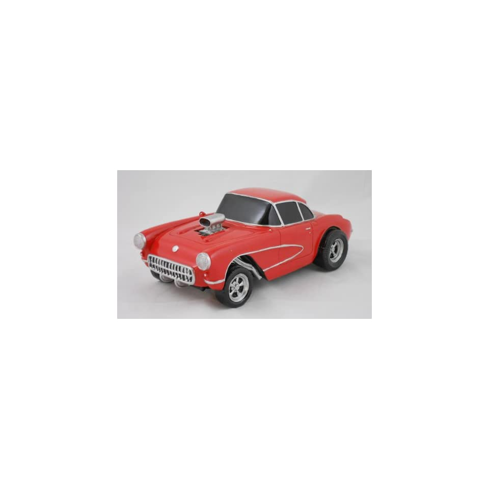 1957 CORVETTE GASSER, RED, COLLECTIBLE 118 SCALE MODEL, HOT ROD, STREET ROD, DRAG RACING CAR
