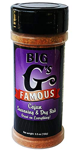 Cajun Seasoning, and Dry Rub, Award Winning, Special Blend of Herbs & Spices, Great on Everything! Grilling, Smoking, Roasting, Cooking, or Baking! By: Big G's Food Service (Best Cajun Spice Brand)