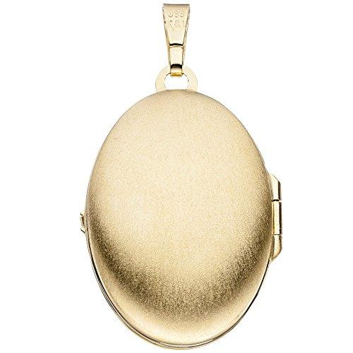 Médaillon Pendentif pour ouvrir en or jaune 333pour femme Or médaillon