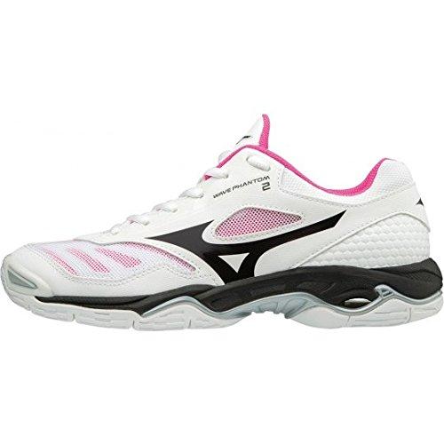 Phantom Wave Mizuno black Zapatillas 001 Glo Multicolor pink Mujer white Para 2 wRpq5dq
