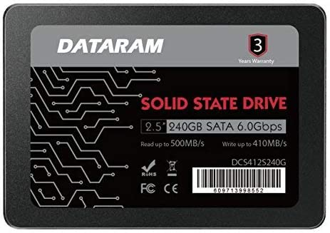 "DATARAM 240GB 2.5"" SSD Drive Solid State Drive Compatible HP 280 G2 [並行輸入品]"
