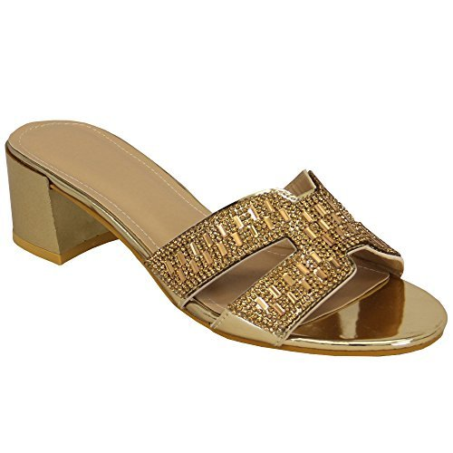 Ladies' Mizia Paris Sandals CH02083 Gold UK 2.5/US 4.5 (Gold Paris Sandals)