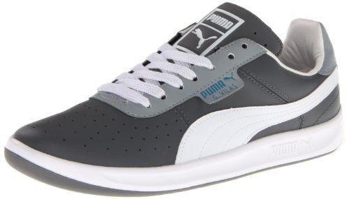 Puma Mens G. Vilas L2 Leer Klassieke Sneaker Staal Grijs-witgroeve