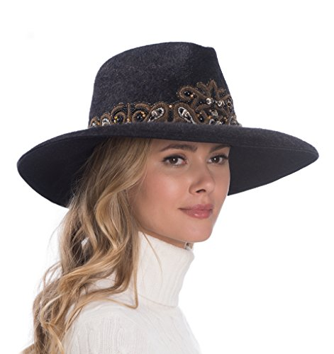 Eric Javits Luxury Fashion Designer Women's Headwear Hat - Arlo - Black by Eric Javits