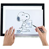 CO-Z A4 LED Drawing Light Box Board, Ultra-Thin Stepless Dimmable Brightness Tracing Tracer Artist Light Pad