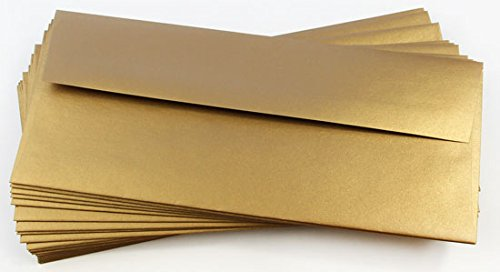 (#10 Stardream Antique Gold Envelopes - Straight Flap, 81T, 25 Pack)