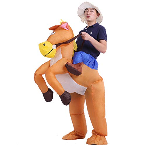 starcourtyard Halloween Inflatable Horse Adult Kids Carry Me Costumes (Inflatable Horse L) -