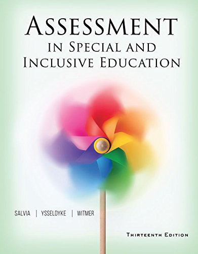 Assessment in Special and Inclusive Education (MindTap Course List)