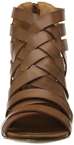 Dolce Dakota Sandal Cognac Women's by Heeled Moxy Mojo rrzfO